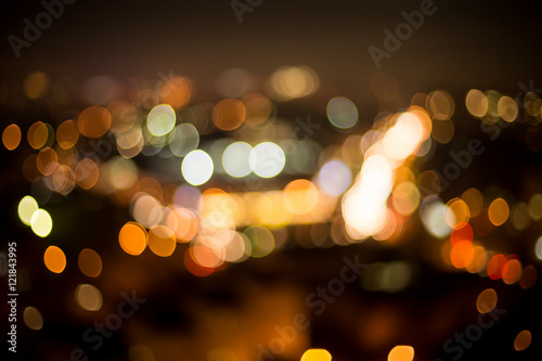 Fotografie, Obraz  Unclear view of city night