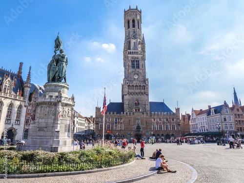 Deurstickers Brugge Belfry of Bruges