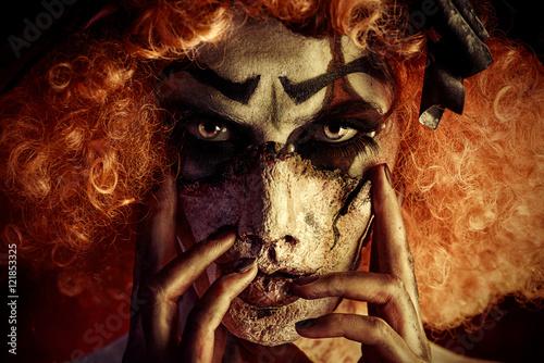 Photo  clown make-up horror