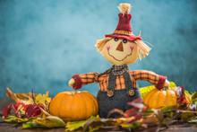 Scarecrow Farmer Show Autumn H...