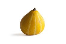 Yellow Gourd On White