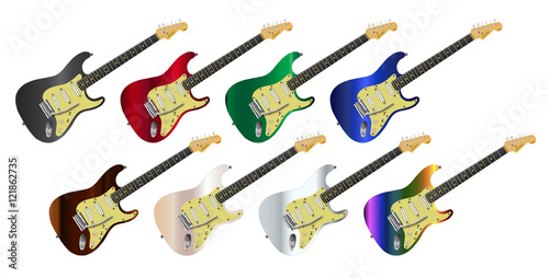 Electric Guitar Collection Canvas Print