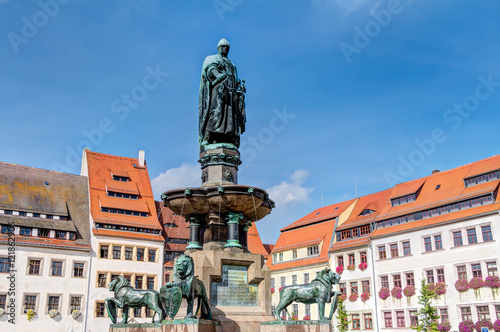 Staande foto Artistiek mon. Obermarkt in Freiberg