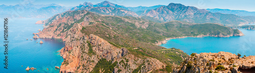 In de dag Pool Piana, South Corsica. Wide panoramic landscape