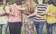 Leinwandbild Motiv Women Female Feminism Lady Madam Friends Concept
