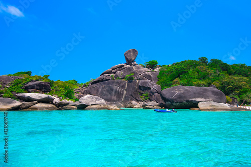Photo Stands Turquoise Beautiful sea and blue sky at Similan island, Andaman sea, Thail