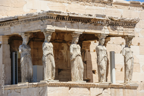 Tuinposter Athene Caryatids at Porch of the Erechtheion, Acropolis