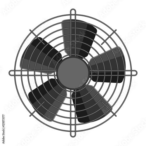 Valokuvatapetti Propeller fan vector illustration.