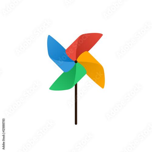 Vászonkép Pinwheel icon flat design vector illustration