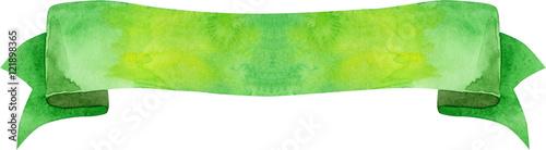 Photo  Watercolor green banner