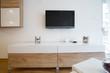 Tv in a modern living room interior