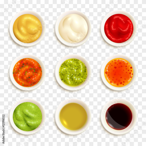 Photo  Set Of Sauce Icons
