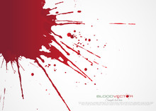 Blood Splatter Isolated On Whi...