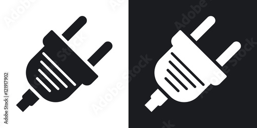 Fotomural  Vector electric plug icon