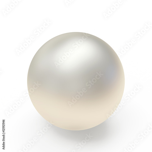 Canvas Print Geometric sphere or pearl isolated on white background