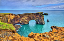 Natural Arch Of Dyrholaey Peninsula - Iceland