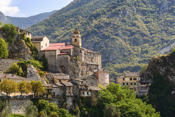 Fototapeta na wymiar The Village of Saorge, Alpes-Maritimes, Provence, France