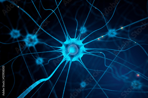 Photo Blue nerve cell