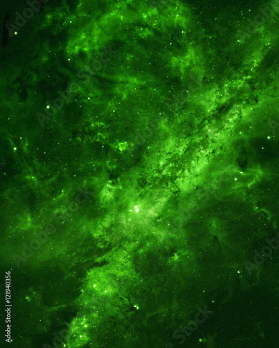 Poster Universe Space background with lots of stars and nebulae