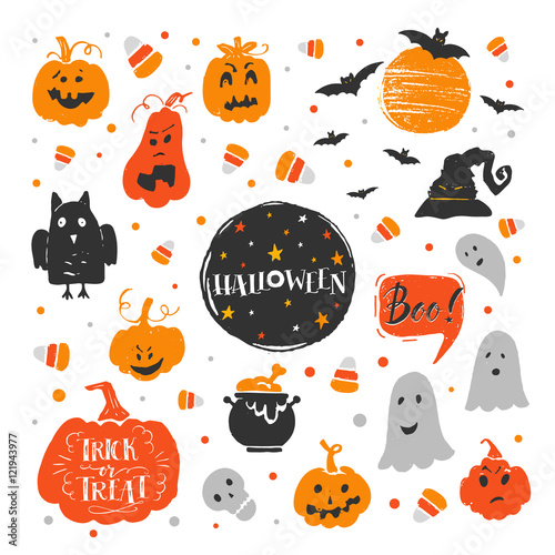 Fotografie, Obraz  Halloween elements set
