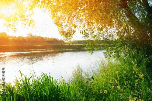 river on sun