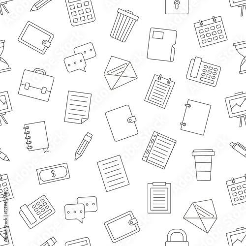 ikony-czarny-wzor-pracy-biurowej