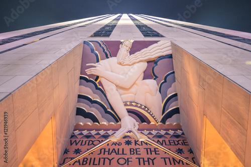 Fotografie, Obraz Rockefeller Center Scripture