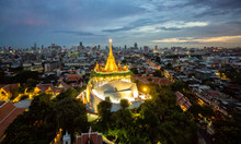 The Golden Mount At Wat Saket,...