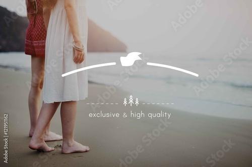Fotografie, Obraz  High Quality Brand Marketing Business Branding Copy Space Concep