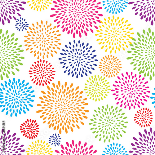 Cotton fabric Abstract splash drop pattern. Firework flowers or lights spot background.