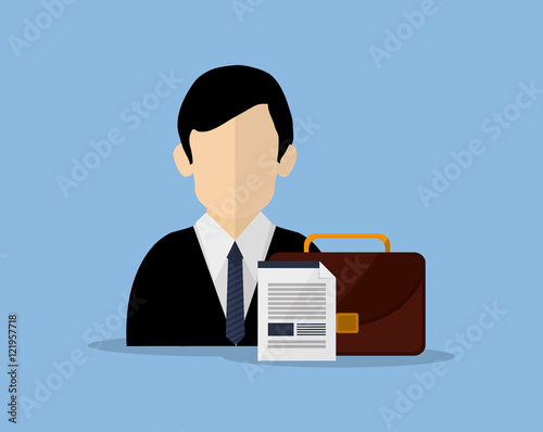 Photo insurance broker or agent and services image vector illustration