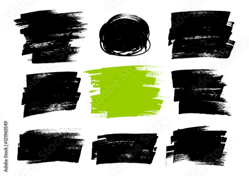 Poster Vormen Set of paint textures for Your design