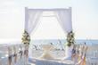 canvas print picture - beach wedding ceremony