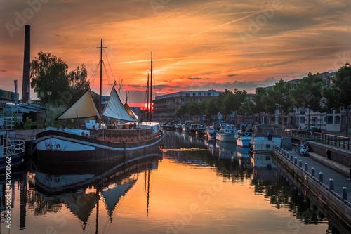 Amersfoort Harbour (Sunset) Canvas Print