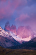 Sunrise on Torres del Paine's iconic towers