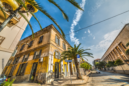 In de dag beautiful street in sassari