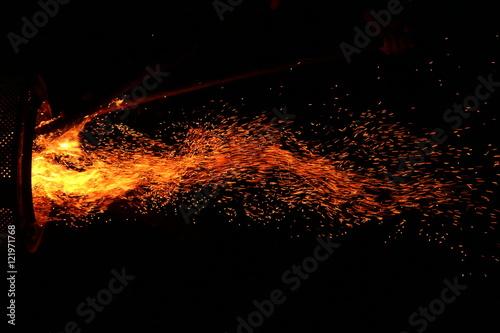Deurstickers Vulkaan Lagerfeuer