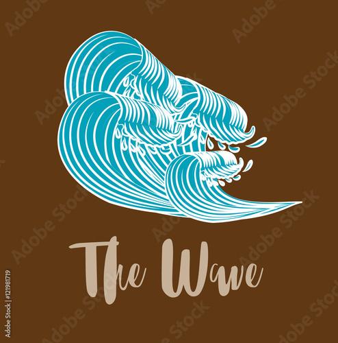 The Great Wave off Kanagawa Vector Wallpaper Mural