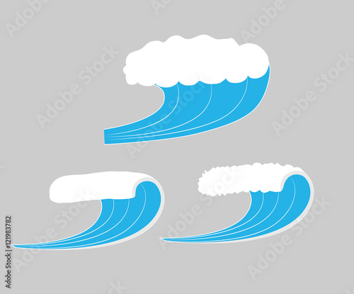 Photo  Sea Waves Vector