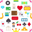 Games of chance vector pattern stickers