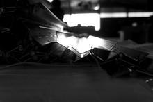 Abstract Metal Hinge