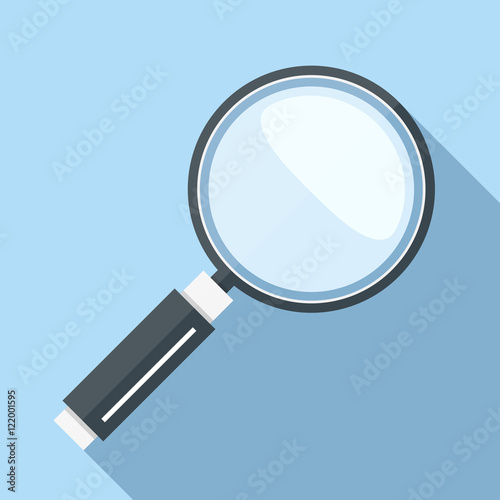 Magnifying Glass Icon Wallpaper Mural