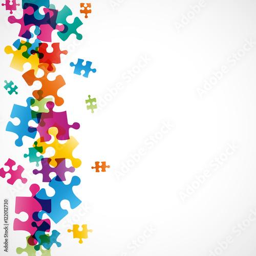 Photo fond abstrait-pièces de puzzles