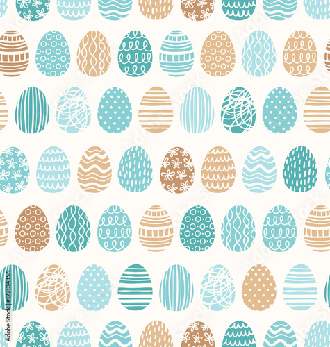 Cotton fabric Easter eggs ornaments seamless pattern