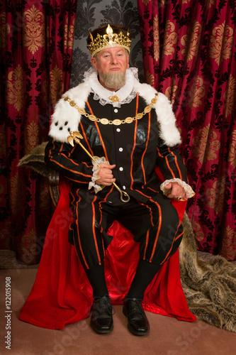 Fotografie, Obraz  King on throne