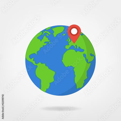 europe on globe world map illustration