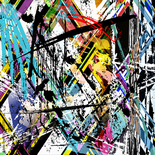 abstract background composition with paint strokes, splashes, st