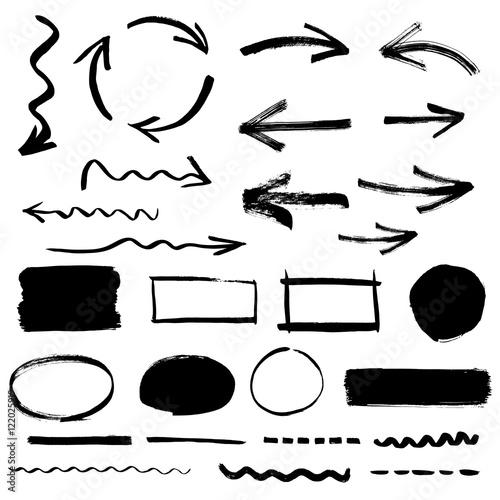 Fotografía  Sketchy design elements