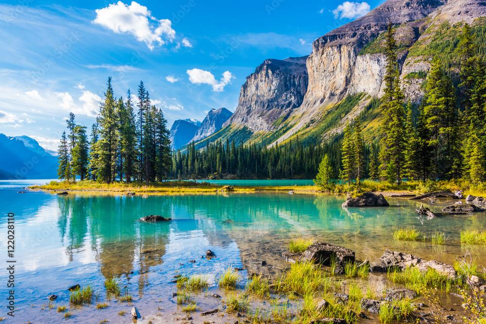 Spirit Island, Maligne Lake, Jasper National Park, Alberta, Canada