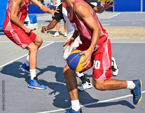 Fotografiet  Playing basketball